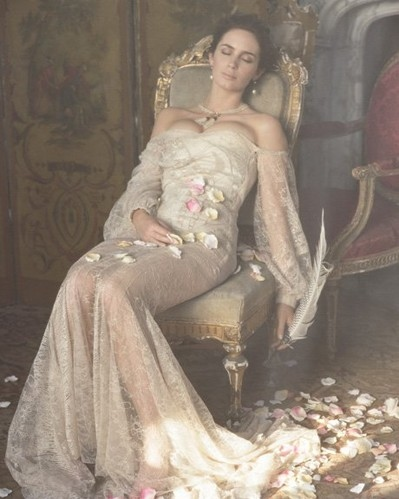 beautiful, beauty, chair, dress, emily blunt, fashion
