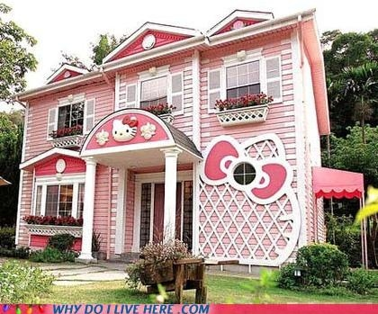 cute, hello kitty, houses, japan, pink, sanrio