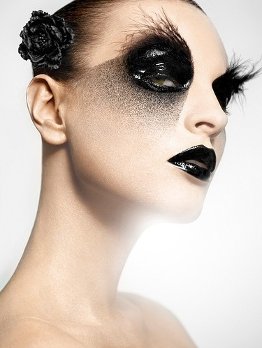 beauty, black, color, cosmetics, dark, darkside fashion