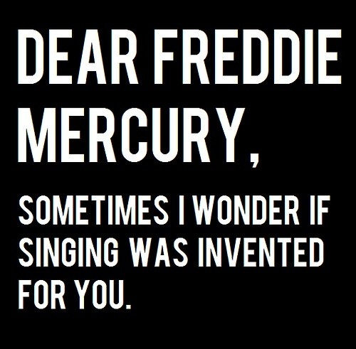 black and white, freddie mercury, freddy mercury, haha, illustration, quote