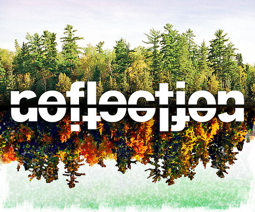 art, digital art, forest, graphic design, green, illustration, lake, message, nature, photography, photoshop, reflect, reflection, reflection insight recommendatio, reflet, reflexion, scenery, surreal, trees, type, type experiment, typography