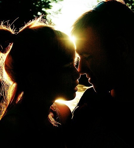 couple, couples, coupling, girl, guy, if we kiss, kiss, love, silhouette, sunlight, sunset