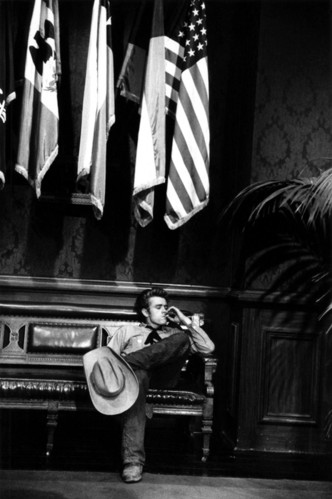actors, cigarette, cowboy, flags, james dean, movies