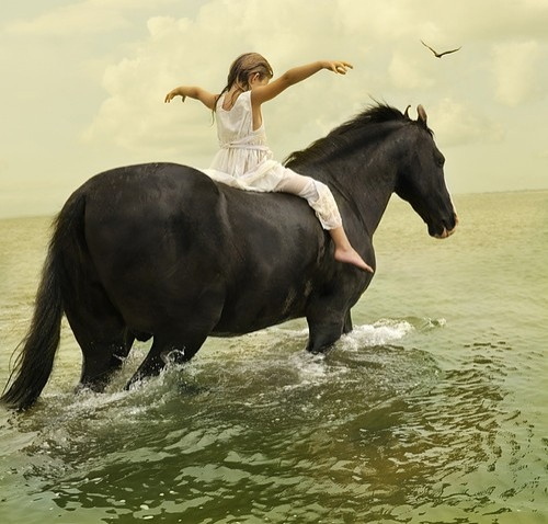 girl. child, horse, horses, lovely, photography, sagittarius