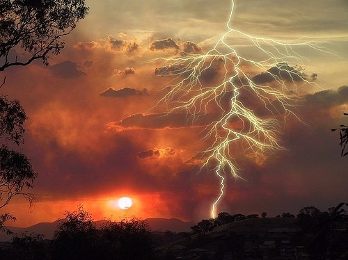 beautiful, clouds, interesting, landscape, lighting strikes, lightning
