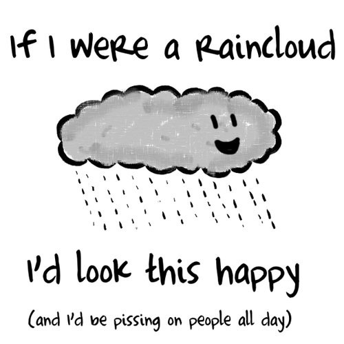 Cartoon Cloud Cute Fun Funny Haha