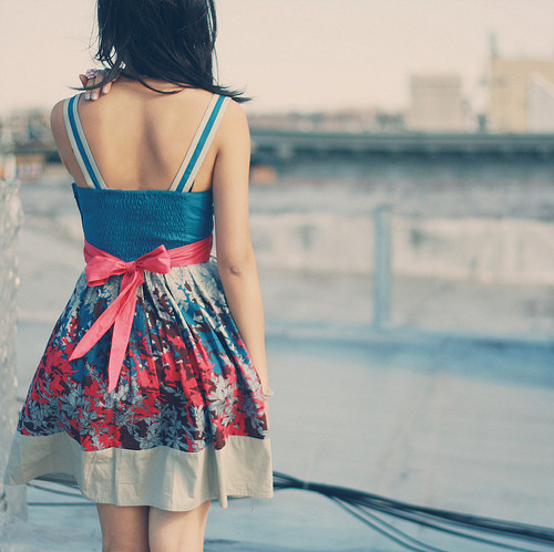 back, blue, body, cool, dark hair, dress, fahion, fashion, female, girl, girls, pretty, young