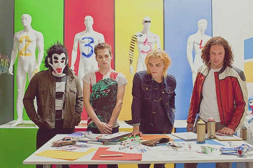 blond, danger days, frank iero, gerard way, mcr, mikey way