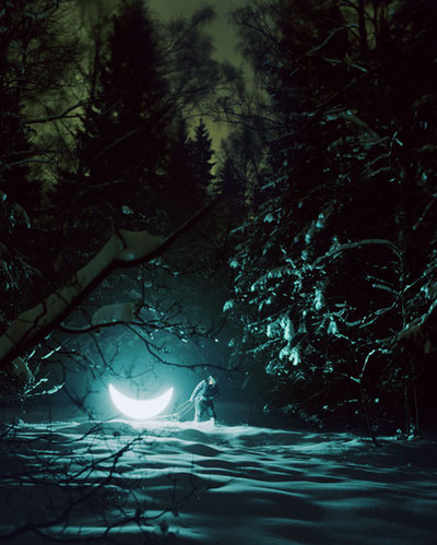 atmosfera, bosque, composition, creative, dreams, environment, illustration, lake, landscape, leonid tishkov and boris bendiko, moon, night, paisaje, photography, photoshop, private m, project, simpatichne fot, snow, some kind of magic, surreal, trees