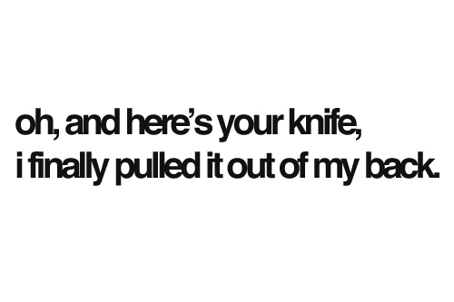 back, knife, quote, quotes, saying, sayings