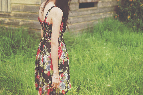 art, cute, dress, fashion, floral, flowers