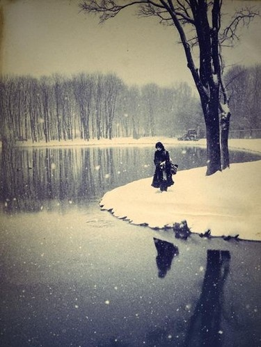 Water Reflection Photography Black And White alone, atmosphere, bla...