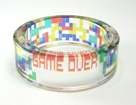 cute, game over, geeky, jewelry, nerdy, ring, tetris, video games