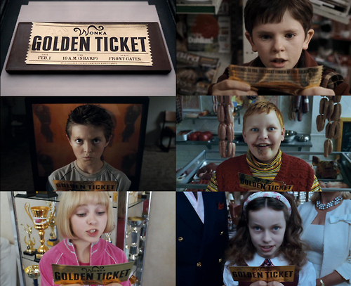 boy, boys, charlie and the chocolate factory, children, chocolate, girl, girls, kid, kids, movie, ticket, willy wonka, wonka