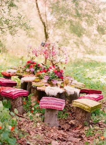 bosque, comfort, cushions, design, diy, fantasy, inspire, interior design, nature, outdoor, outdoors, photography, picnic, pink, pretty, seats, tea, tree, whimsical