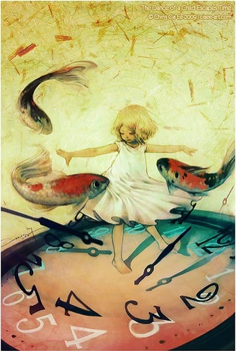 alice, art, blue, carp, child, childhood