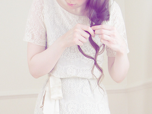 braid, braids, dreamy, dress, favorites, female, girl, hair, hands, photography, simple, white