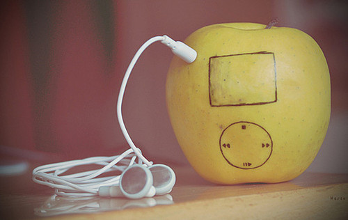 apple, cute, food, funny, geeky, humor