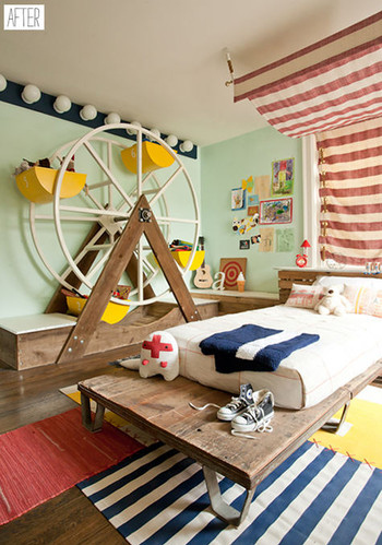 Bedroom Room Kids Casa Circus Baby Room Colour Image