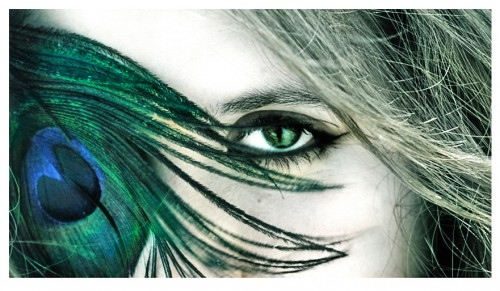 art, awesome eyes, deviantart, eye, eyes, feather, feathers, free, girl, green, hair, occhio, pavone, peacock, spirit, woman