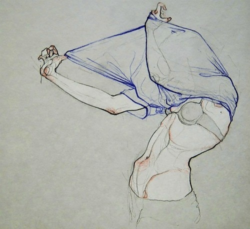art, color:grey, drawing, female, figure, figure drawing, girl, illustration, lines, pencil, sketch, skin, watercolor, watercolour