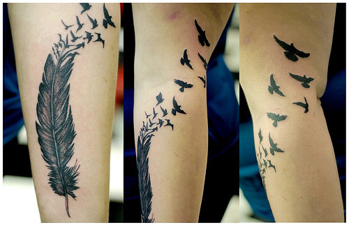 bird, birds, birds tattoo, feather, feather tattoo, featherbirds, tattoo, tattoos, want