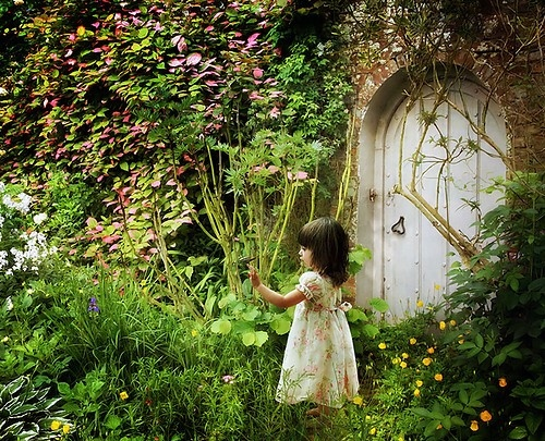 babskids, beautiful, child, children, door, flowers