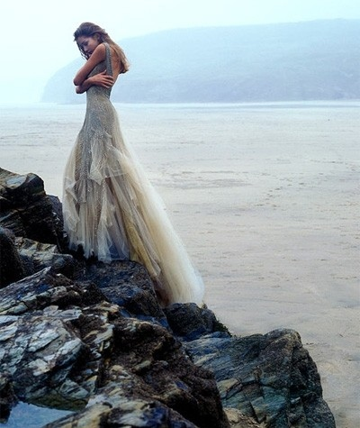 alone, alone bride, beach, beautiful, beauty, cliff