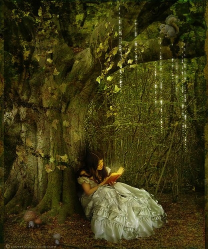 alice, alice in wonderland, book, dark hair, fairy tale, forest