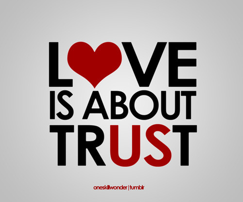cool, couples, graphic, heart, love, love is about trust