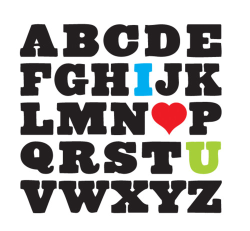 alphabet, alphabet love, alphabets, black, creative, cute, cutie, design, heart, i love you, likey, love, nice, photo, saying pics, typographie, typography, words