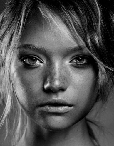 ?????, babe, beautiful, beautiful face, beauty, black, black and white, character inspiration, darkcrystal, eyes, face, fashion, favorites, freckles, gaze, gemma ward, girl, hair, lighting, lips, mademoiselle, model, mouth, natural, photo, photography
