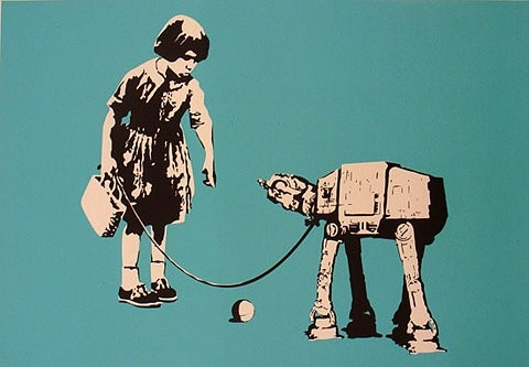 art, ball, banksy, design, female, geek
