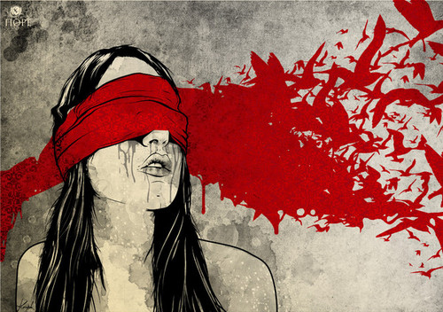 aesthetic, aesthetic art, art, art illustration, birds, birds graphic, blind, blindfold, brunette, colors, dark, design, digital, drawing, female, freedom, girl, graffiti, graphic design, graphics, illustration, imagination, p, photoart, poster