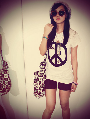 alternative, bag, camiseta, fashion, girl, heart glasses