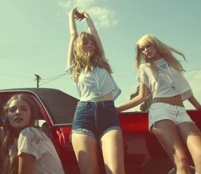 amatuer models, black hood, blondes, car, classic car, cropped, friends, fun, girl, girlfriends, girls, hair, hot, jean shorts, jeans, legs, model, models, mustang, party girls, photography, sexy, shorts, summer, top, woman