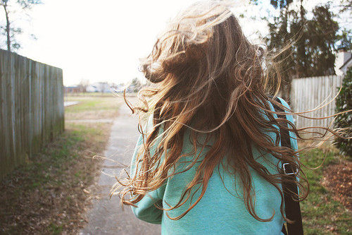 back, faceless, girl, hair, head back, waves