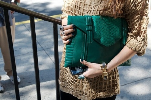 chic, clutch, fashion, girl, green, ladies