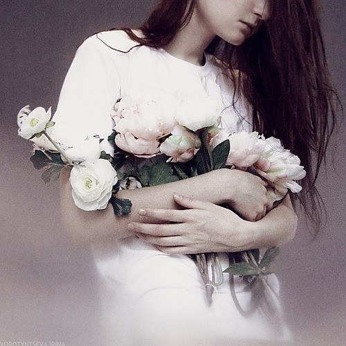 art, flower, flowers, girl, hair, kad?n