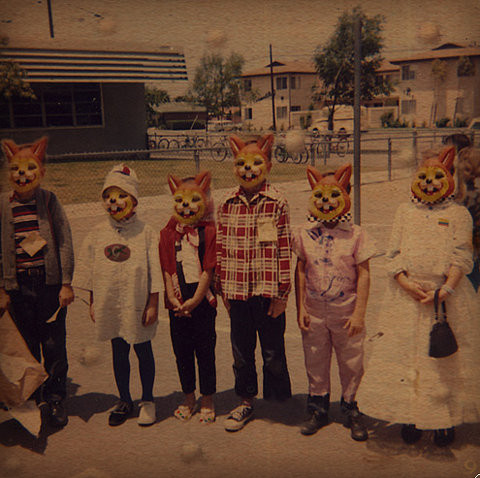 bizarre, family, fasm, fox, kids, mask