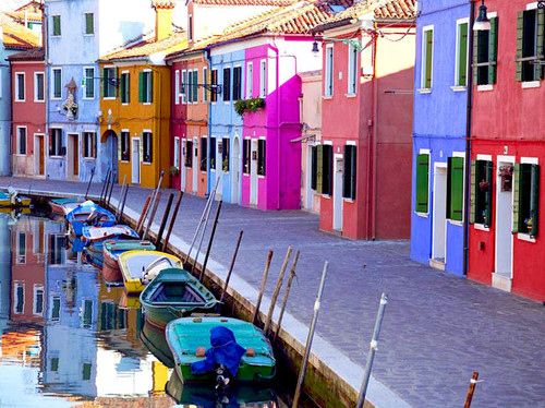 architecture, art, boats, candy houses, color, colorful