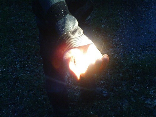 colour, contrast, dark, glow, hand, light