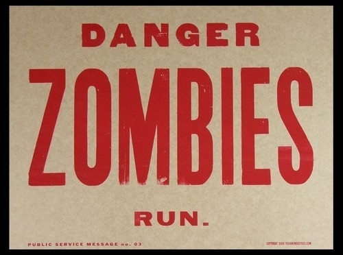 danger, fun, funny, graphic, humor, humour, or not, poster, quote, sign, text, truth, type, typography, warning, zombie, zombies