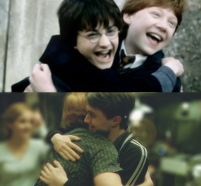 daniel radcliffe, friends, friendship, harry and rony, harry potter, rony weasley, rupert grint