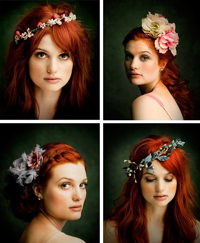 allison sudol, beautiful, beauty, color, flowers, fotografia, girl, hair, hair color, jewelry, people, photography, red, red hair, redhead, woman