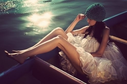 beauty, being women, blue, boat, dreamy, dreamy boat
