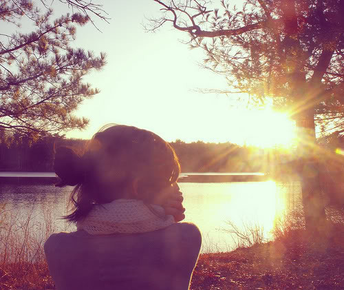 cool, dreamy, evening, female, girl, lake
