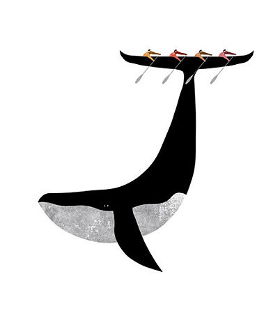 animal, boat, conceptual, design, graphic, illustration