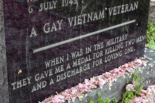 awesome, dadt, death, fight, flowers, gay, grave, gravestone, homosexual, homosexuality, inspirational, lgbt, love, medal, men, military, photo, photography, tombstone, vet, veteran, veteren, vietnam, war
