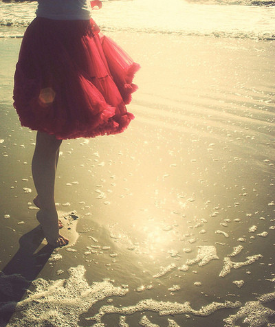 beach, color, dress, favorites, girl, legs